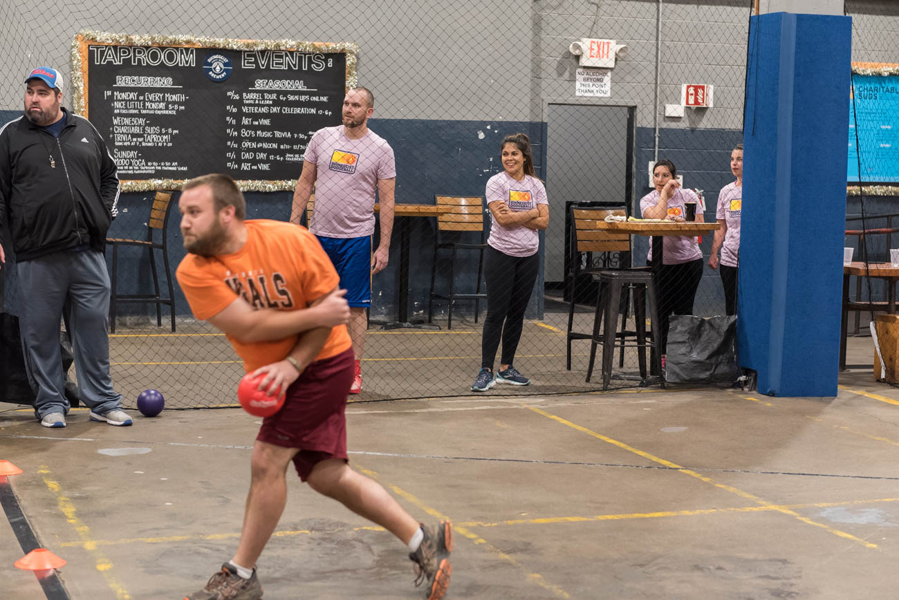 The Rhinegeist Dodgeball League takes over the taproom every Tuesday. Two teams meet to compete in a best of a five-game series. The season runs until January 9th where the top six teams make the playoffs. ADDRESS: 1910 Elm Street (45202) / Image: Mike Menke // Published: 12.1.18