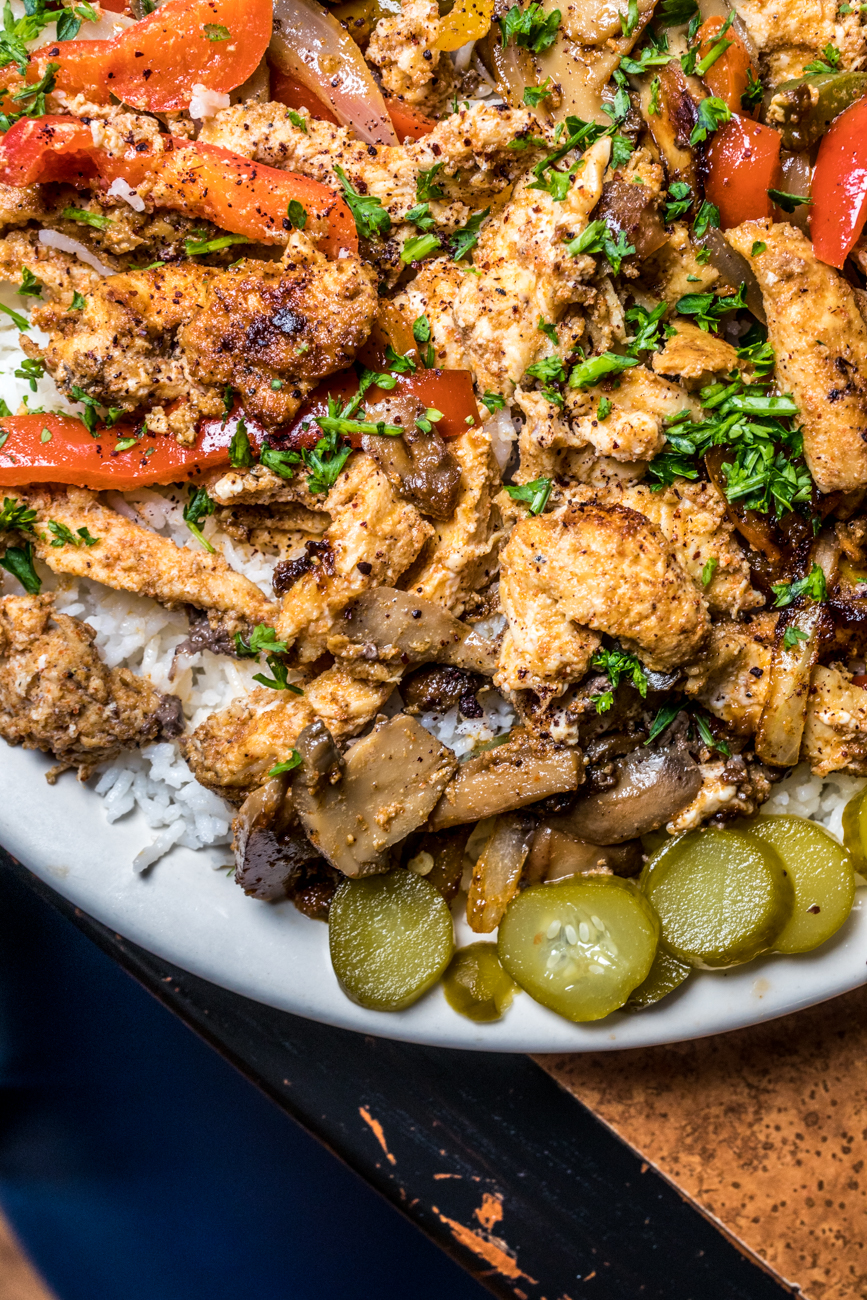 Chicken Shawarma Platter: authentic spiced chicken seasoned with a house signature spice blend / Image: Catherine Viox // Published: 9.23.20