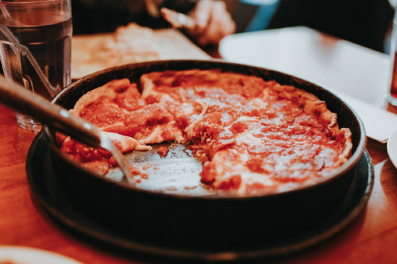 Chicago is famous for its deep dish pizza, and Lou Malnati's is one of the many spots throughout the city where you can find it. / Image: Brianna Long / Published 3.19.17