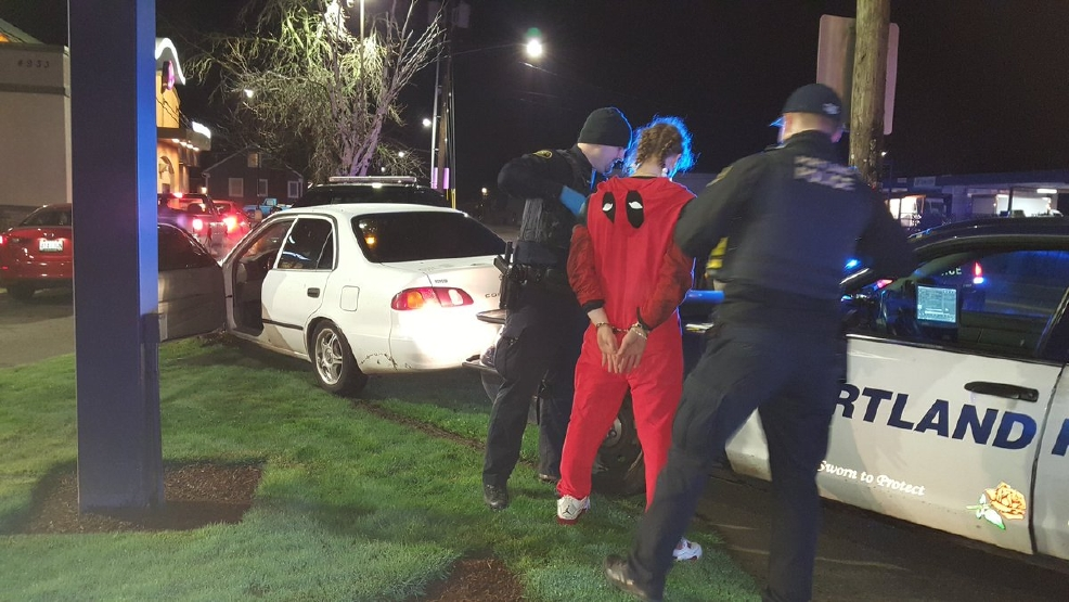 Police detain DUII suspect at SE Portland Taco Bell - Portland Police photo 1.jpg