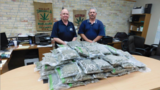 Police bust three people, seize 102 pounds of marijuana