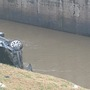 Crash leaves vehicle in creek