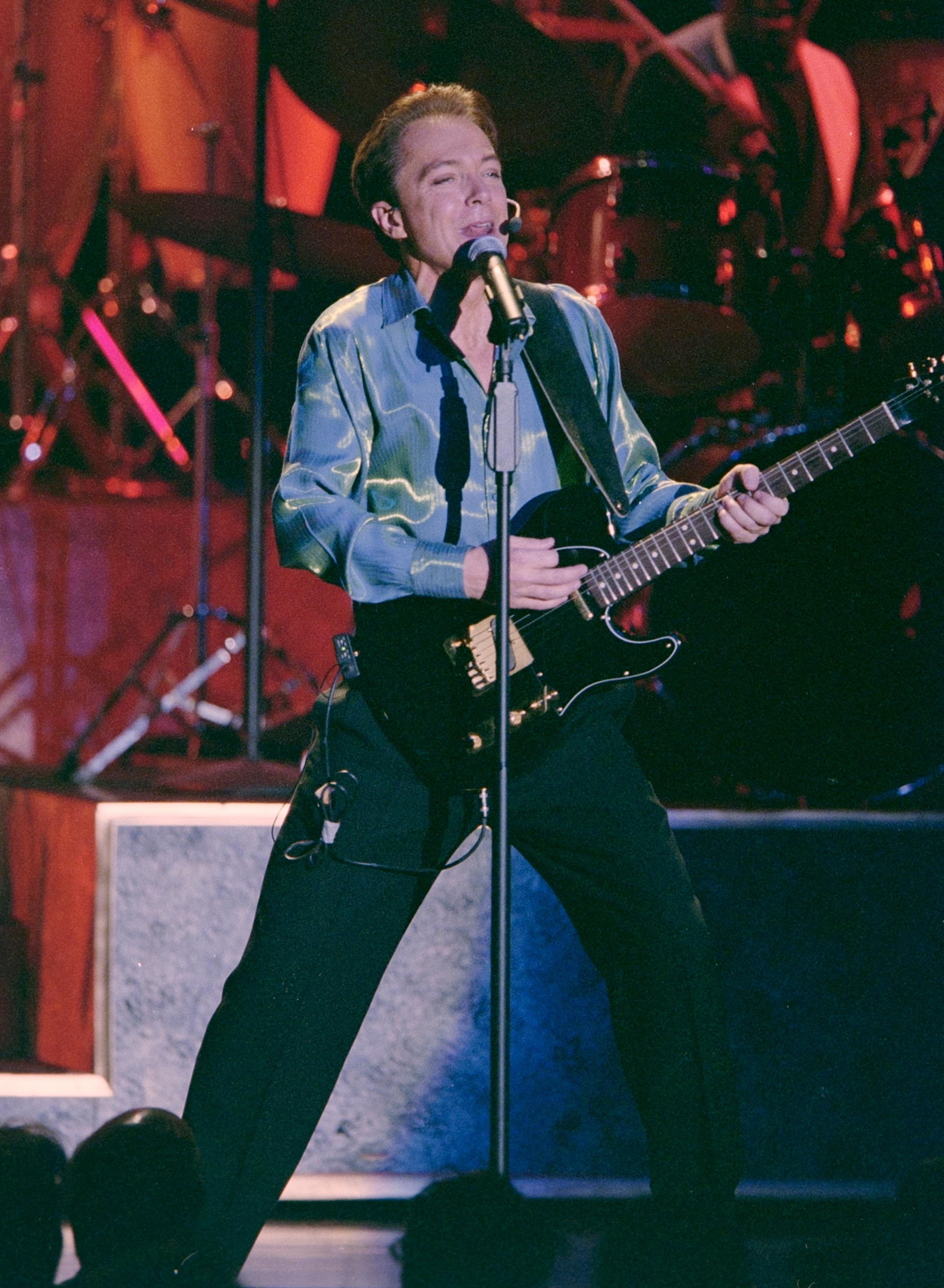 "David Cassidy performs during the opening of his show ""At the Copa"" February 3, 2000, at the Rio in Las Vegas. [Glenn Pinkerton/Las Vegas News Bureau]"
