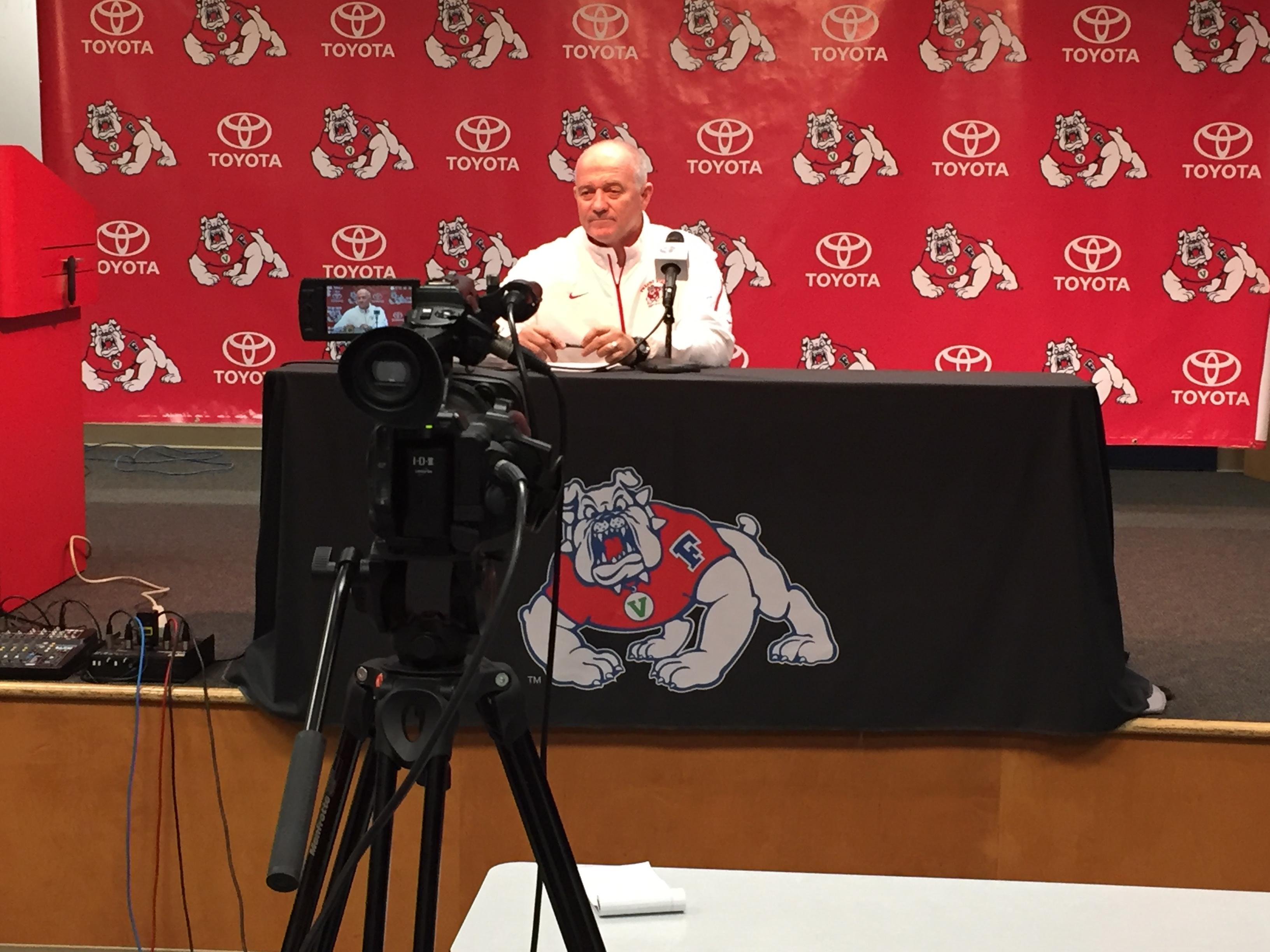 Fresno State football coach Jeff Tedford talks about his 2018 recruiting class. Of the 15 signees, 8 are from the Central Valley.<p></p>