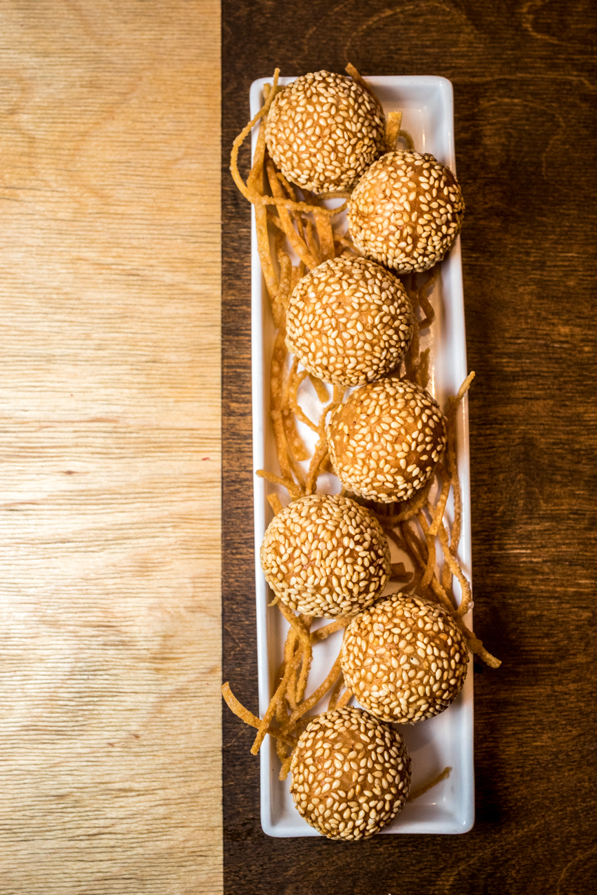 "RESTAURANT: Hop Ping Hog / PICTURED: crispy sesame ball / ADDRESS: 29 E. Court Street (Downtown) / PHONE: 513-381-4848 / WEBSITE:{&nbsp;}<a  href=""https://hoppinghog.com/"" target=""_blank"" title=""https://hoppinghog.com/"">hoppinghog.com</a>{&nbsp;}/ Image: Catherine Viox // Published: 11.2.20"