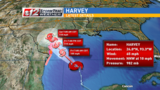 Harvey becomes a category 3 hurricane, could make 2 landfalls