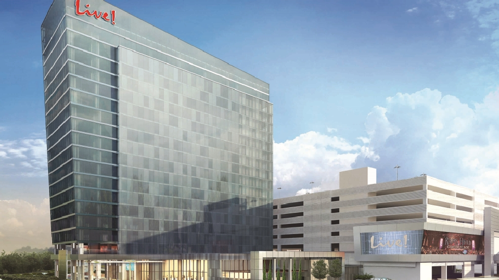 Maryland live breaks ground on 17 story luxury hotel wjla for Luxury hotel breaks