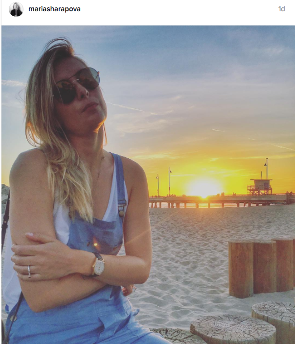 "Sharapova captions: ""Always somewhere near the water"""