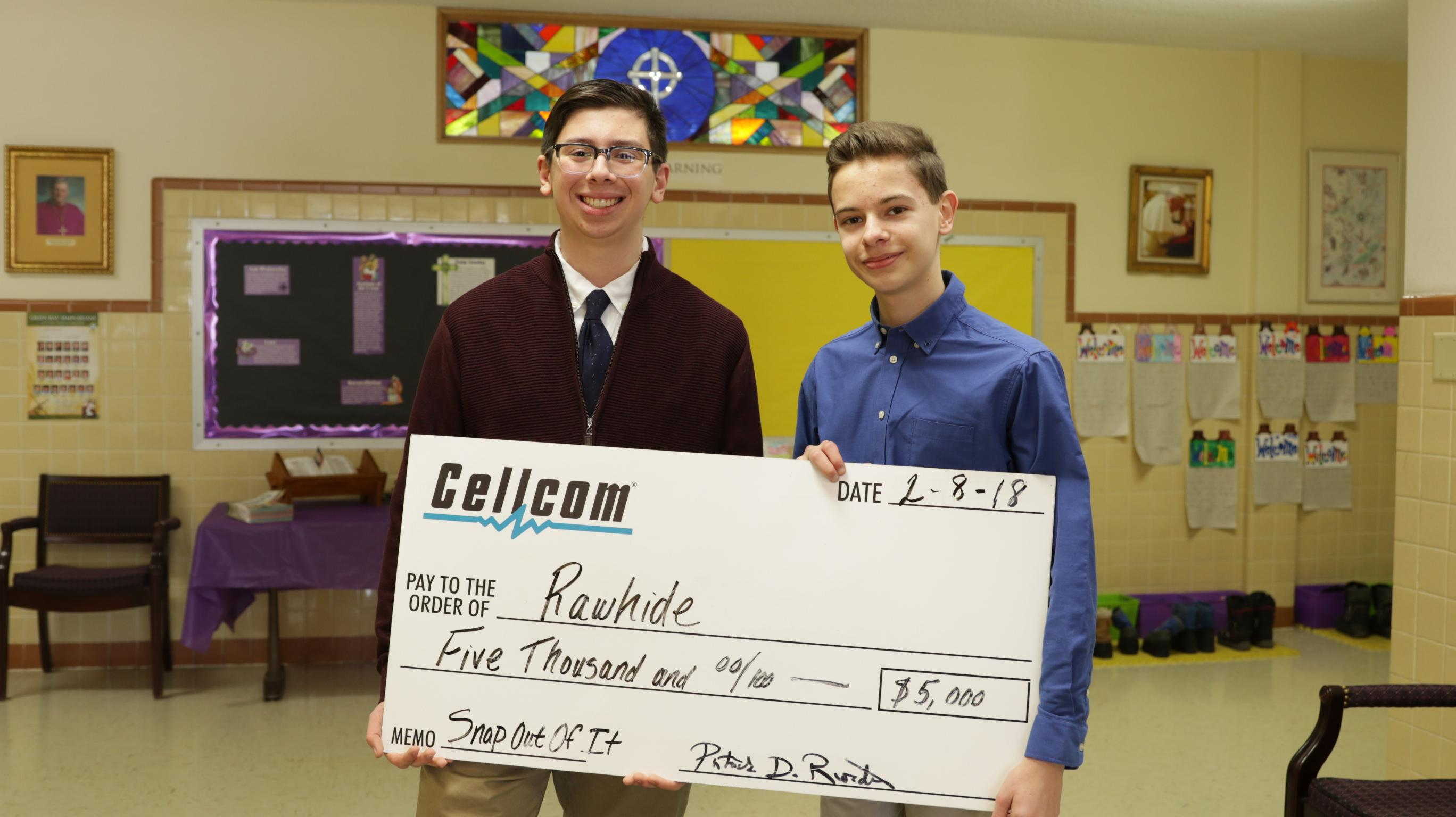 Cellcom donated $5,000 to the Snap Out of It campaign, aimed at decreasing students' dependence on electronic devices. (Photo courtesy of Cellcom)<p></p>
