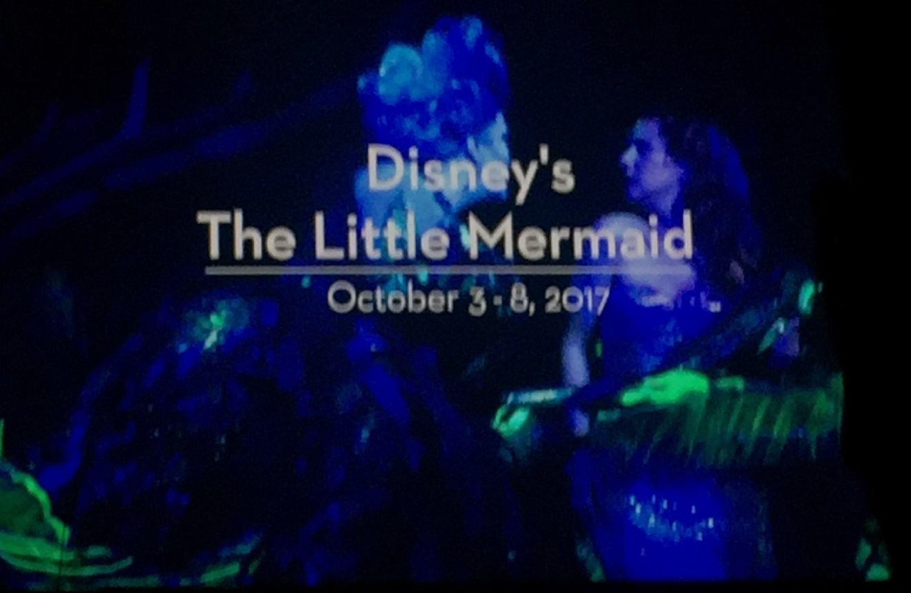 Disney's The Little Mermaid was revealed as an upcoming tour during the Smith Center for the Performing Arts 2017-2018 Broadway series preview Tuesday, Feb. 28, 2017, in Reynolds Hall. It will run in Las Vegas from Oct. 3-8, 2017 (Jami Seymore | KSNV)