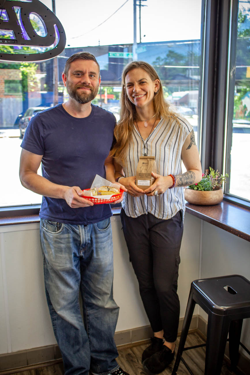 Married duo Jeff (head baker) & Sarah Gardocki (owner and roaster) / Image: Katie Robinson, Cincinnati Refined // Published: 7.8.19