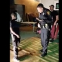 San Antonio police officer shows off salsa moves at party while checking out complaint