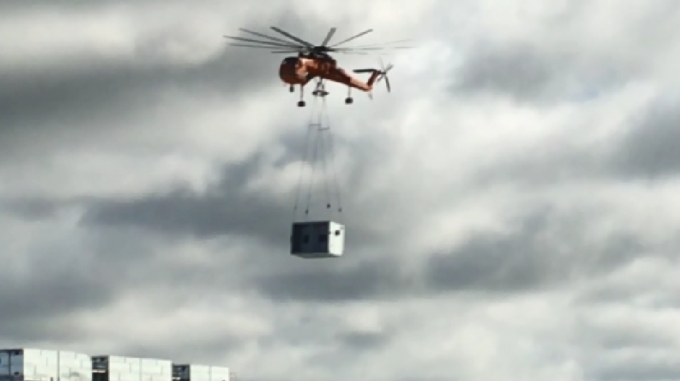 massive helicopter helps out with kirksville kraft heinz