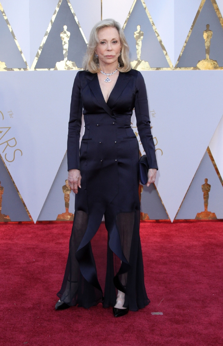Turns out Faye Dunaway's La La Land/Moonlight kerfuffle wasn't the biggest flub of the Oscars -- it was this god awful tuxedo-style navy gown. Thank goodness she changed i the long-sleeve white Atelier Prabal Gurung gown before she presented. (Image: Adriana M. Barraza/WENN.com)