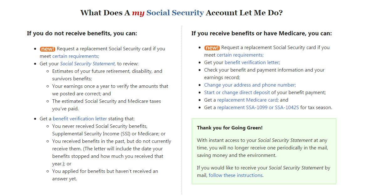 now all new and current my social security account holders will need to provide a