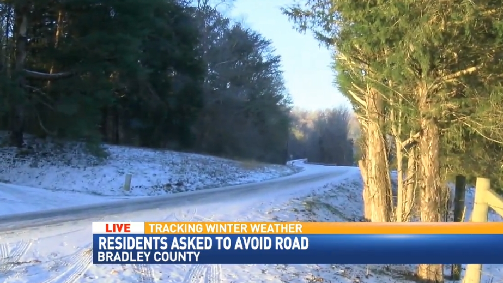 Icy road conditions continue in Bradley County | WTVC