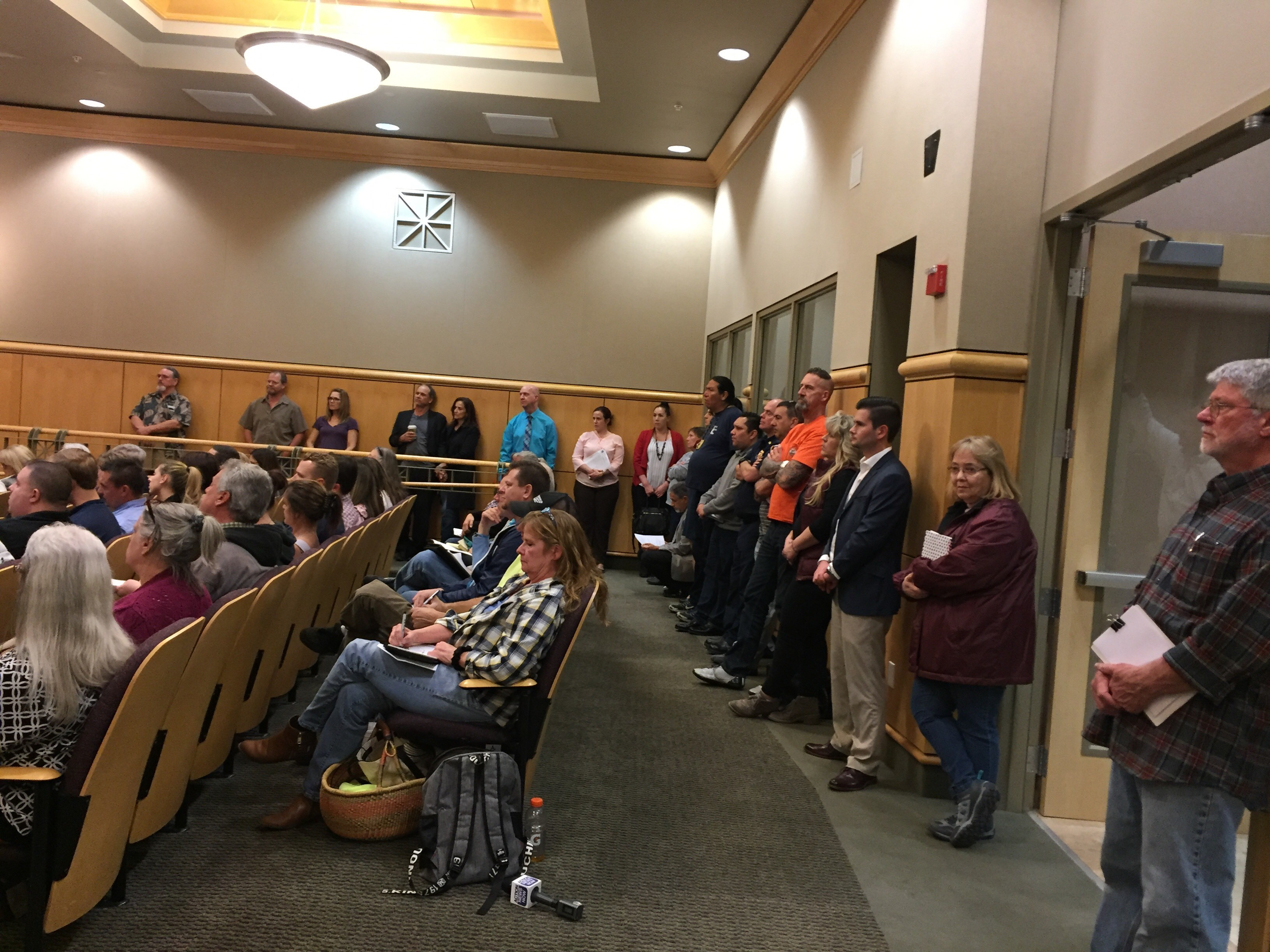 Civic leaders and citizens from Shasta County at the first of several scheduled Shasta County Supervisors Public Safety Forums, February 7, 2018 in Redding.
