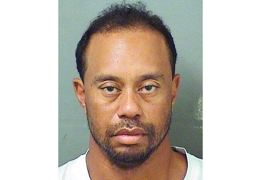 This image provided by the Palm Beach County Sheriff's Office on Monday, May 29, 2017, shows Tiger Woods. Police in Florida said Tiger Woods has been arrested for DUI. (Palm Beach County Sheriuff's office via AP)