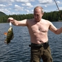 Putin goes fishing in Russia's Siberia mountains