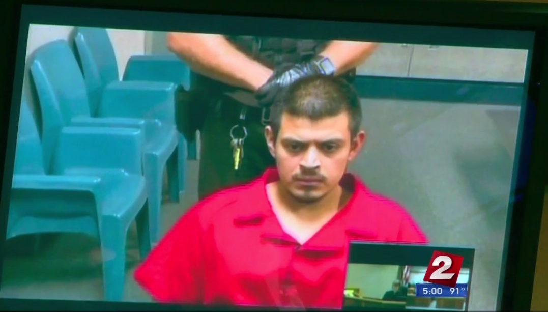 Edwin Lara during a court date on Aug. 25 (KATU News photo).png