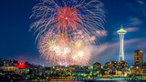 Photos: Fireworks dazzle over Western Washington on Independence Day