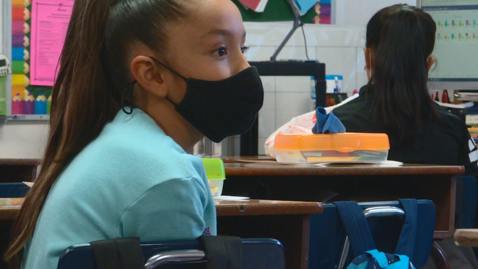 Utah students are learning to adapt to changes brought on by COVID-19, including the challenges of learning with a mask on. (KUTV)