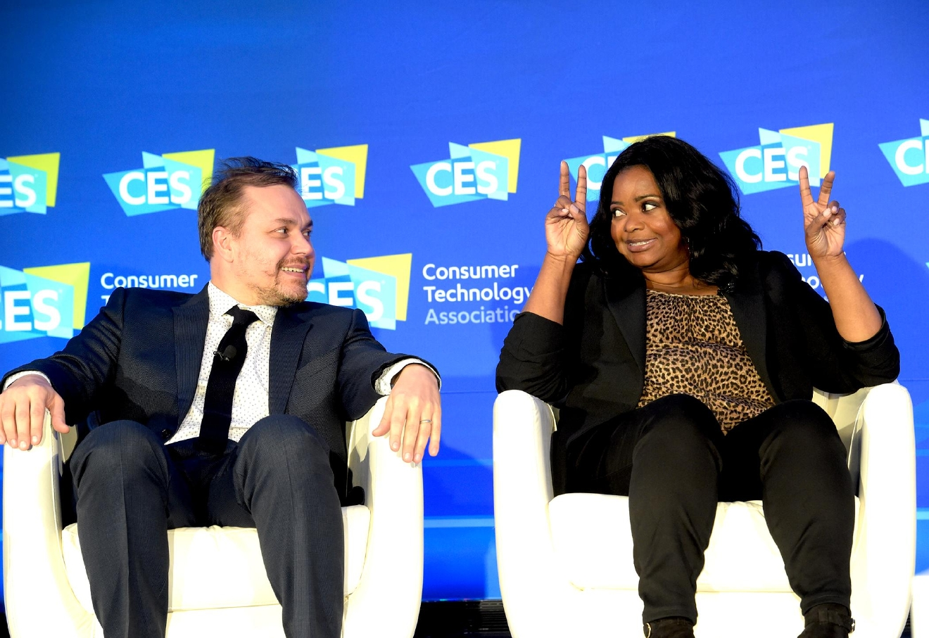 "The Power of Hidden Figures panel discussion with Actress Octavia Spencer and Director Ted Melfi from the movie ""Hidden Figures"" during the CES Convention at the Las Vegas Convention Center. Friday, January 6, 2017. CREDIT: Glenn Pinkerton/Las Vegas News Bureau"