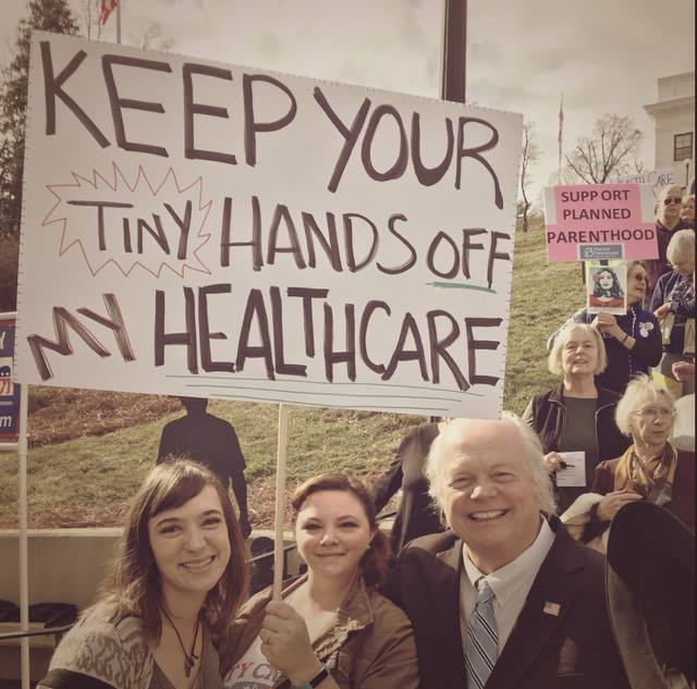 Marchers in Jackson County and Waynesville also marched in support of the ACA on Sunday. (Photo credit: Progressive Nation)