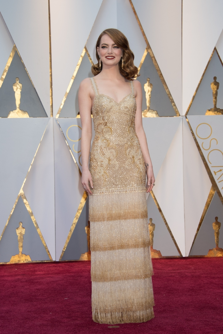 Emma Stone, Oscar® nominee, arrives on the red carpet of The 89th Oscars® at the Dolby® Theatre in Hollywood, CA on Sunday, February 26, 2017. (A.M.P.A.S.)