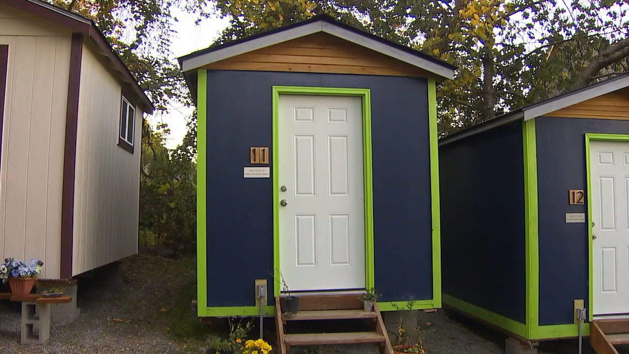 The director of Seattle's Low Income Housing Institute wants to expand the city's tiny houses program to help transition the homeless into permanent housing. (KOMO Photo)