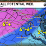 Brace yourself: D.C. could see 4-6 inches of snow Wednesday