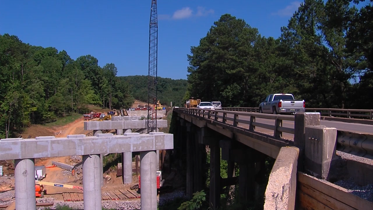 One person died in a crane accident on a Highway 269 bridge construction site in Walker County, Ala., Monday, June 13, 2016. (abc3340.com)