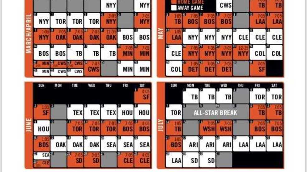 Nerdy image intended for baltimore orioles printable schedule