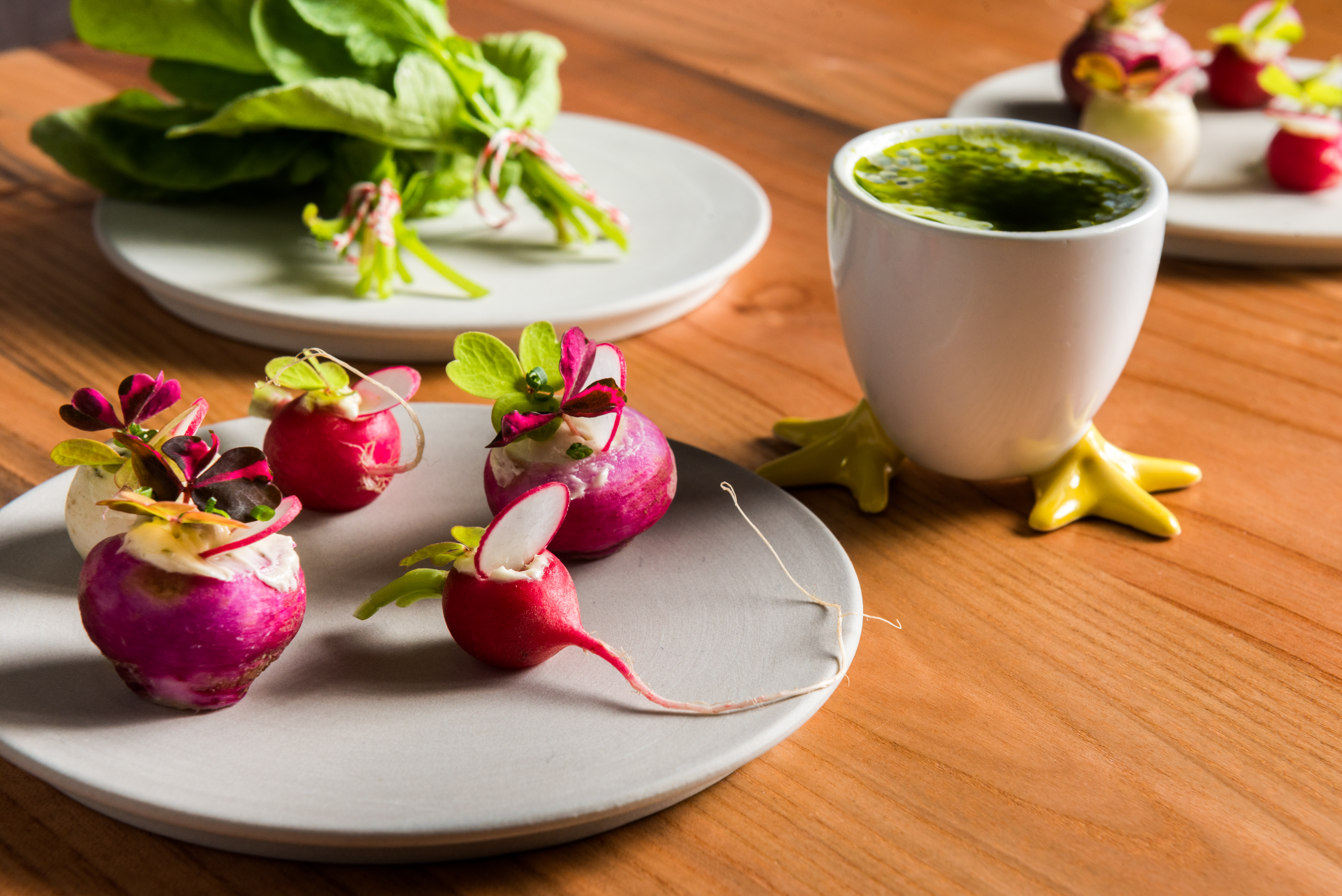 """I would describe this cocktail as elegant, savory, seductive, something that will open up your appetite before the meal,"" Coronado says, who recommends it with radish crudite with seaweed brown butter, fleur de sel and green goddess dressing, and oysters served with Earl Grey tea, bergamot and black pepper.{ } (Image: Rey Lopez)"