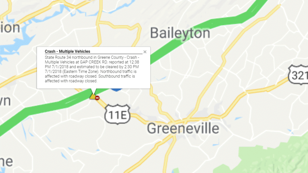 Multiple Vehicle Accident Reported in Greene County | WCYB