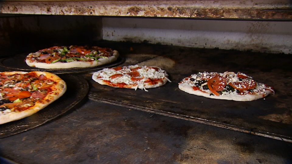 Here we have the oven in where the pizzas are cooked. (News 4 San Antonio)<p></p>