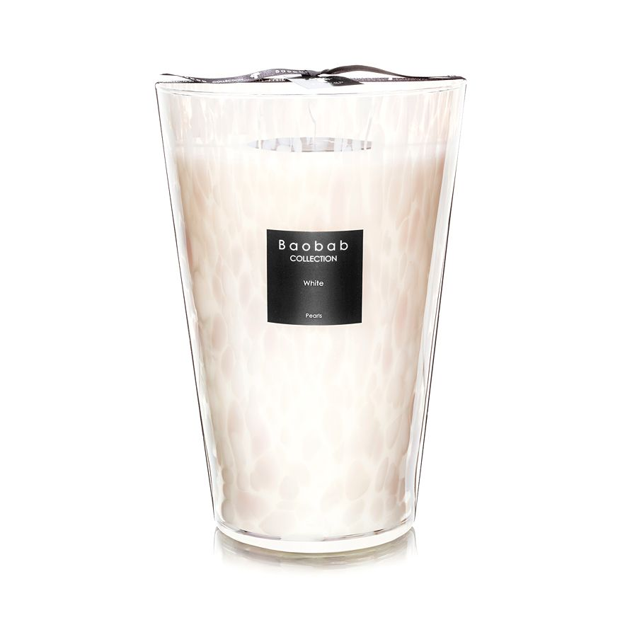 Large Baobab collection pearl candle from d/eleven // Price $580 // Buy in store // https://d11concept.com/ // (Image: Courtesy d/eleven)