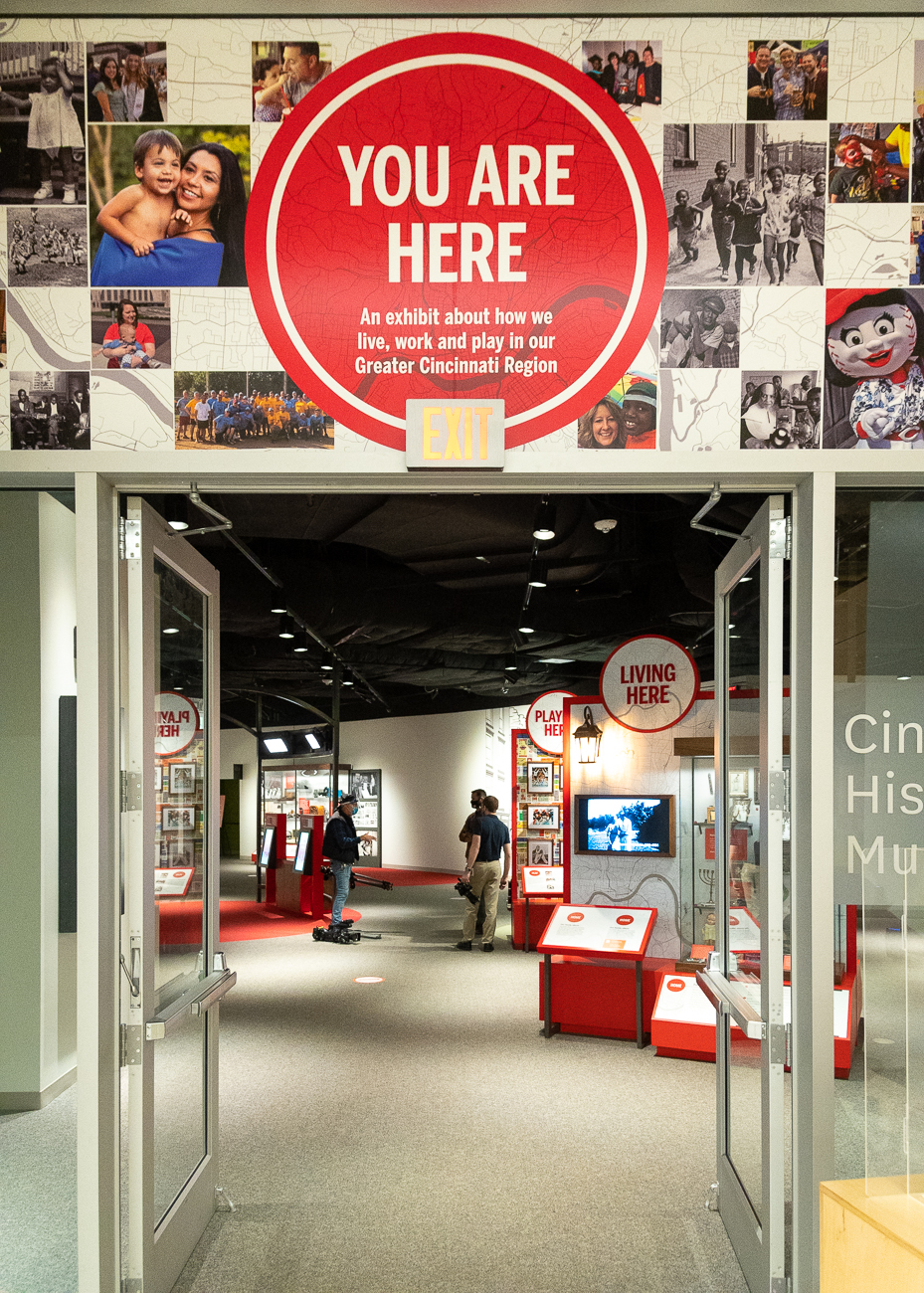 How do Cincinnatians live, work, and play? The Cincinnati Museum Center's newest permanent exhibit, You Are Here, seeks to answer that very question using local artifacts and touchless interactive technology. / Image: Phil Armstrong, Cincinnati Refined // Published: 10.23.20