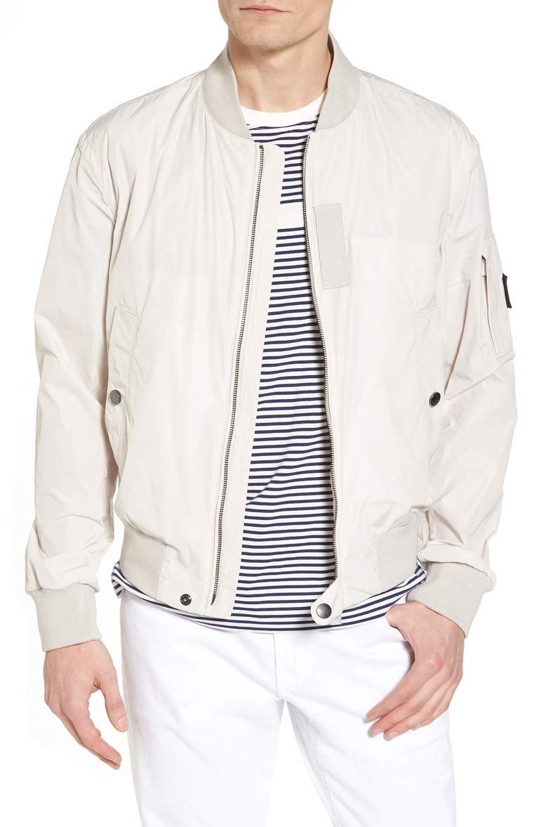 "A clean-cut and classic silhouette defines a stylish jacket built from crisp tech fabric.{ } This entire look is flawless and screams ""Cool Dad""! Price: $395 at Nordstrom. (Image: Nordstrom){ }"