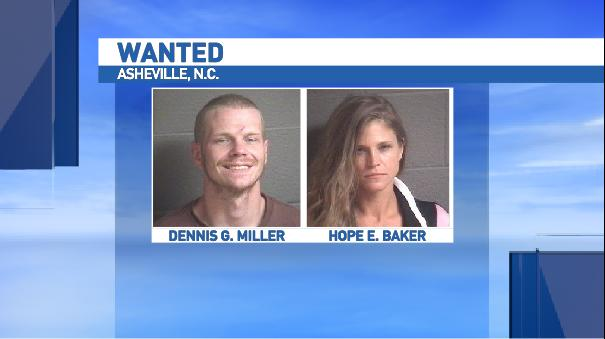 <p>Anyone with any information on the whereabouts of either Dennis Gates Miller or Hope Elizabeth Baker is asked to contact the Asheville Police Department at 828-252-1110 or Crime Stoppers at 828-255-5050. (Photo credit: Asheville Police Department)</p>