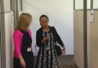 Upstate President Danielle Laraque-Arena  visits downtown offices. (CNYCentral)