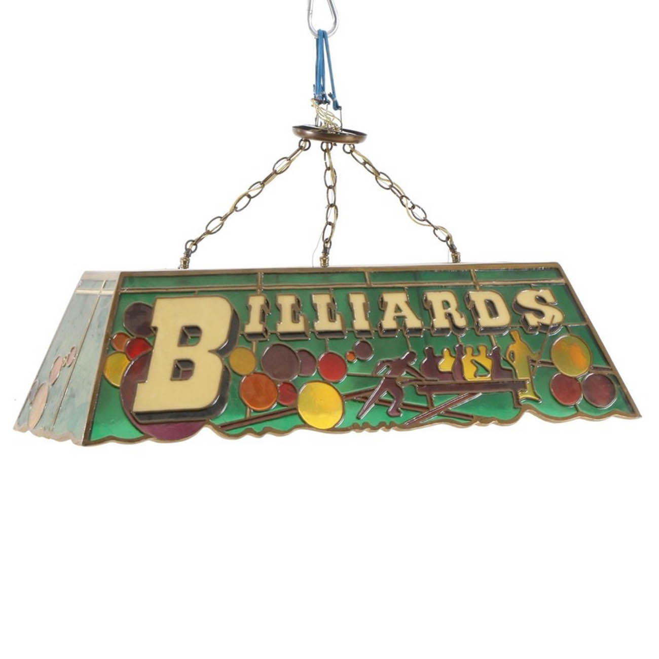 <p>A billiards ceiling lamp from the Cincinnati Reds Clubhouse / Image courtesy of Everything But The House (EBTH) // Published: 12.6.18</p>