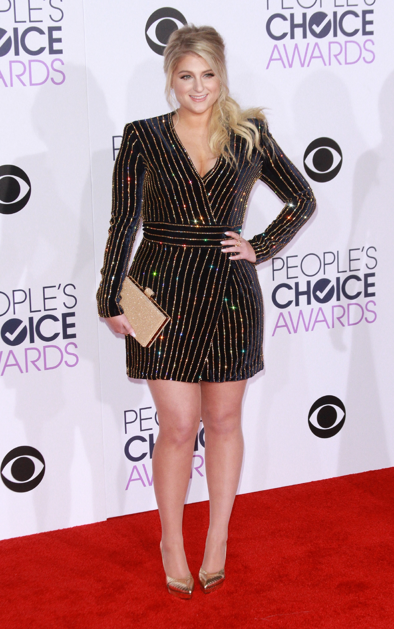 People's Choice Awards 2016 held at the Microsoft Theatre L.A. Live - Arrivals                                    Featuring: Meghan Trainor                  Where: Los Angeles, California, United States                  When: 06 Jan 2016                  Credit: Adriana M. Barraza/WENN.com