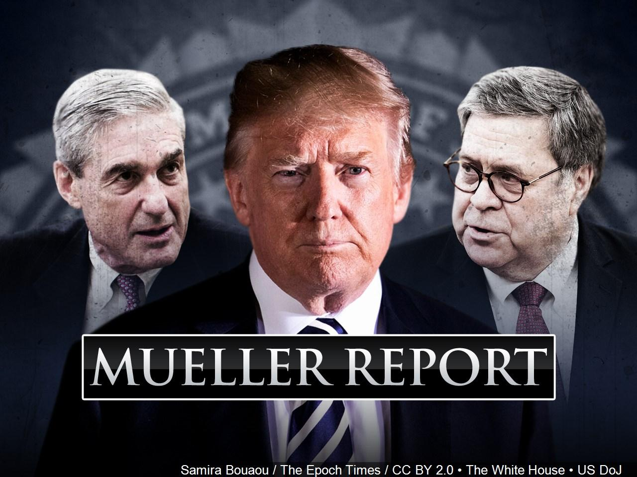 Special counsel Robert Mueller's report, with redactions, as released on Thursday, April 18, 2019, is photographed in Washington. (MGN)