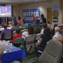 First debate: Locals gather to support their party's candidate