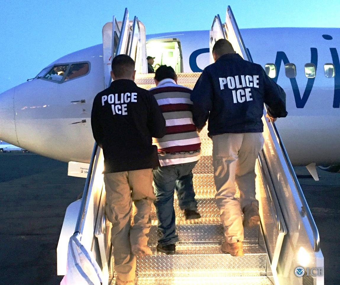 <p>FILE - In this Oct. 13, 2017 photo, Immigration and Customs Enforcement in El Paso deport a convicted sex offender.{&amp;nbsp;} (Credit: ICE.gov){&amp;nbsp;}</p>