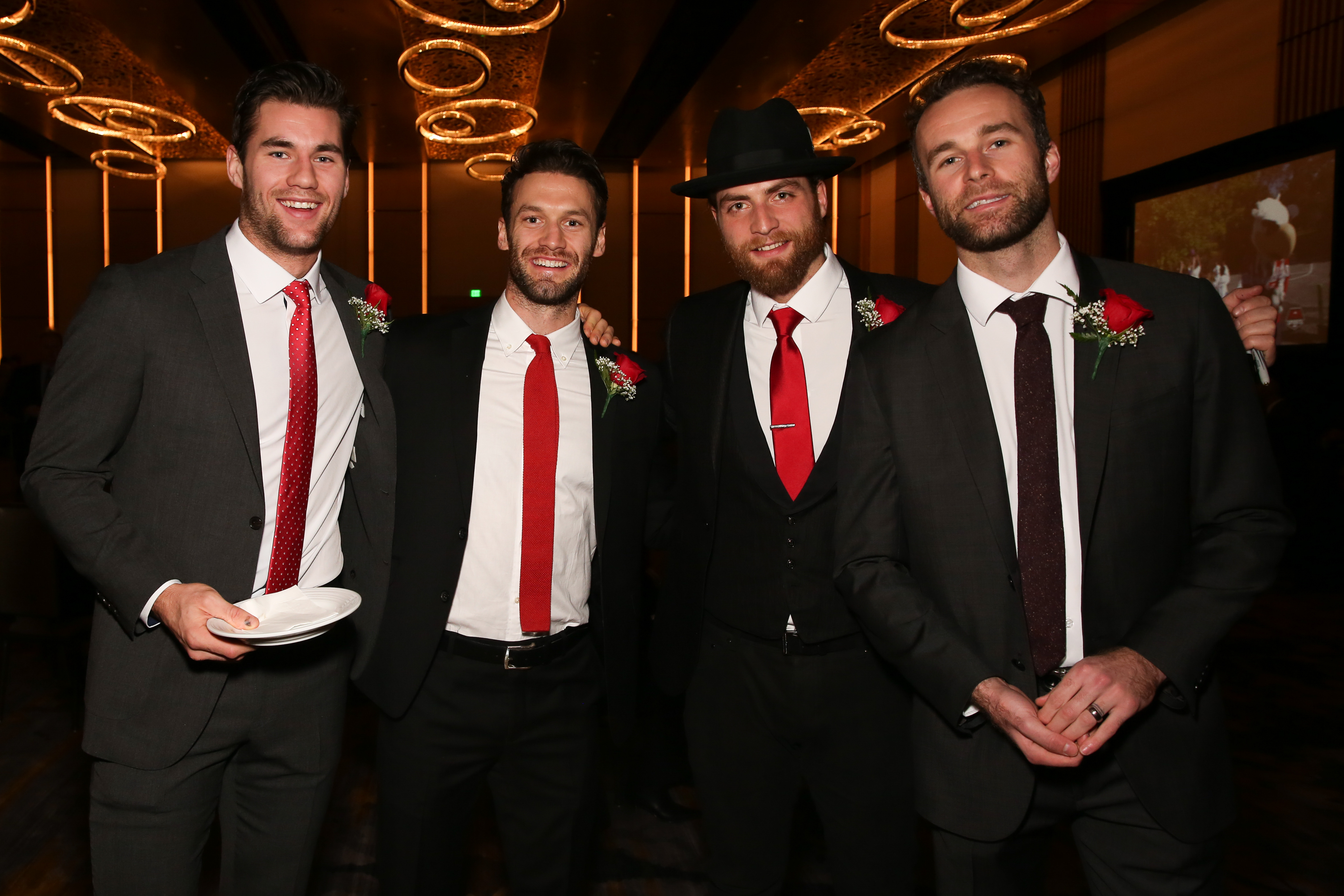 From left, Tom Wilson, Brendan Stephenson, Braden Holtby and Brett Connolly. (Amanda Andrade-Rhoades/DC Refined)