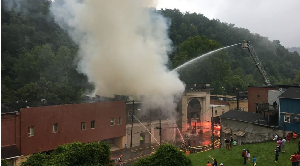 The fire started in the 300 block of Main Street. (WCHS/WVAH)