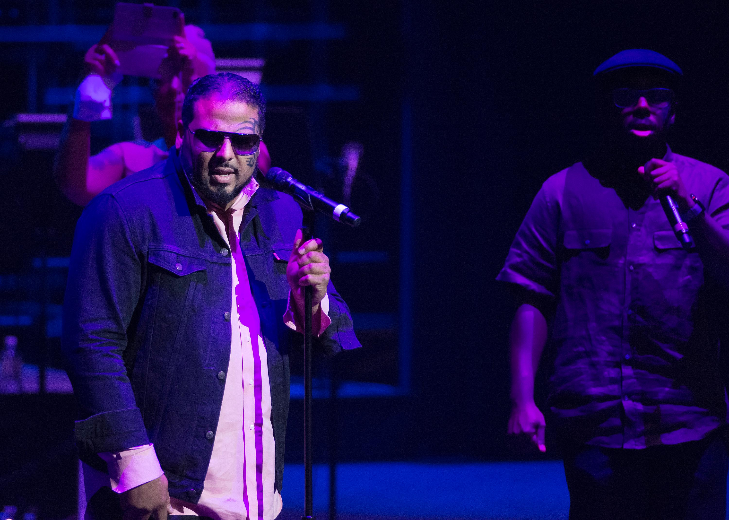 "Al B. Sure! performs during the ""Vegas Cares"" benefit concert at the Venetian Theatre in the Venetian hotel-casino at 3355 S. Las Vegas Blvd in Las Vegas on Sunday, Nov 5, 2017. The concert was sponsored by a group of Las Vegas entertainers, producers and business professionals to honor the victims and first responders from shooting at the Route 91 Harvest festival. (Photo/Las Vegas News Bureau/Bill Hughes)"