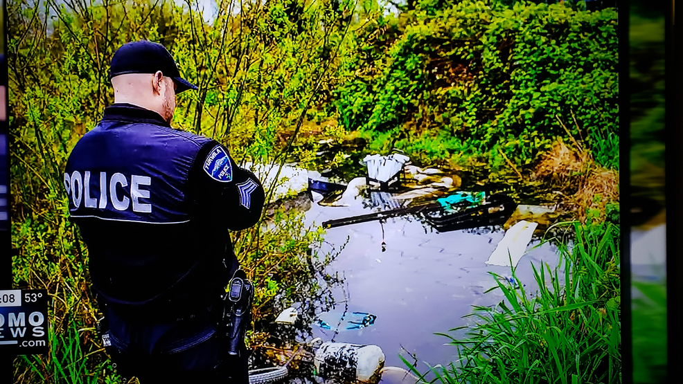 PHOTOS: Homeless camp discovered on protected wetland